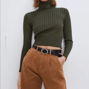 ZARA NWT ribbed turtleneck sweater